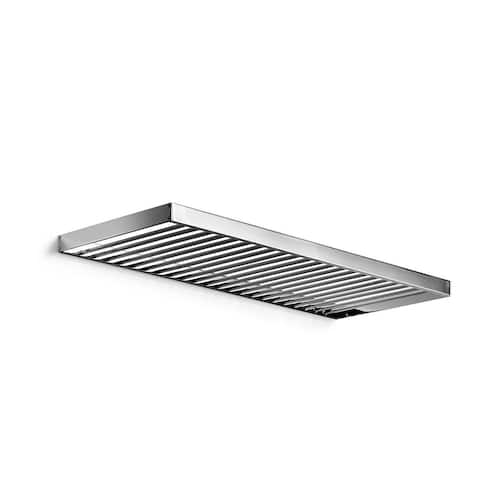 "WS Bath Collections Skuara 52845.29 19.7"" x 5.3"" Towel Shelf from the Skuara Collection - Polished Chrome"