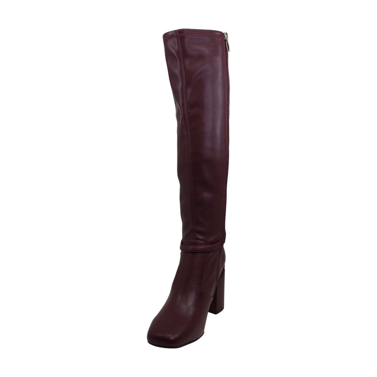 Franco Sarto Women/'s Shoes Roxanne Leather Square Toe Knee High Fashion Boots