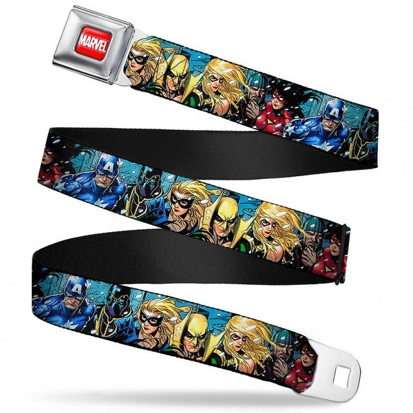Marvel Universe Marvel Full Color Red White New Avengers Group Snow Storm Seatbelt Belt