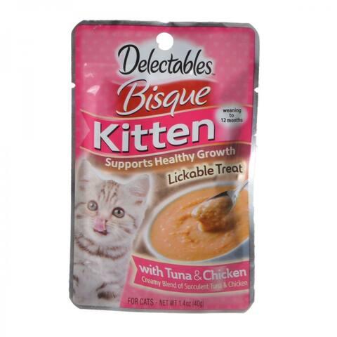 Hartz Delectables Bisque Kitten Treat - Tuna & Chicken 1.4 oz