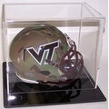 Mini Football Helmet Acrylic Display Case Black Base - Thumbnail 0