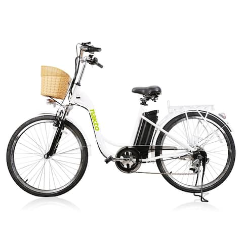 Nakto Camel City Women's Electric Bike 250W with Plastic Basket