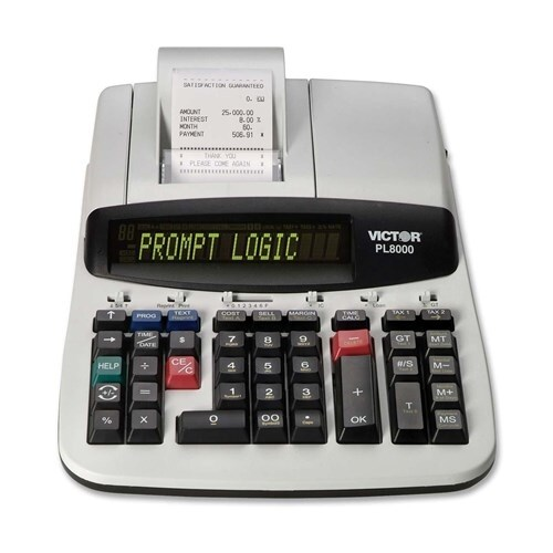 Victor One Color Prompt Logic Printing Calculator Logic Printing Calculator