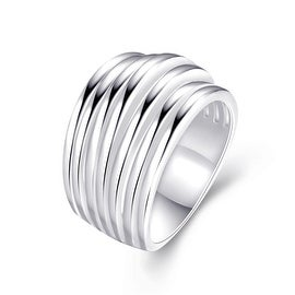 Multi Swirl Design Silver Tone Ring