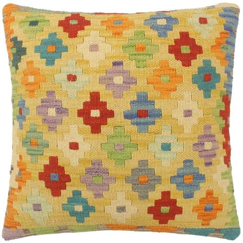 Boho Chic Turkish Jeffery Hand Woven Kilim Pillow