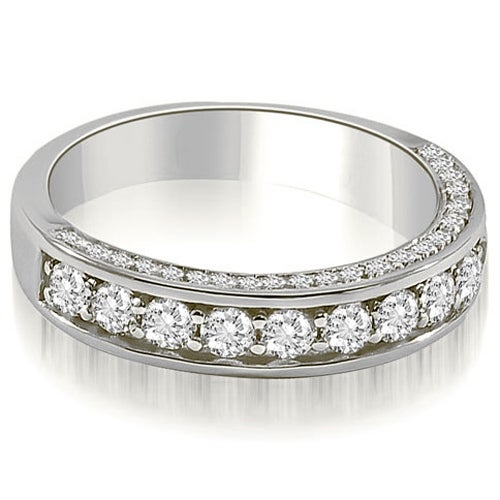 0.43 cttw. 14K White Gold Classic Round Cut Diamond Wedding Band