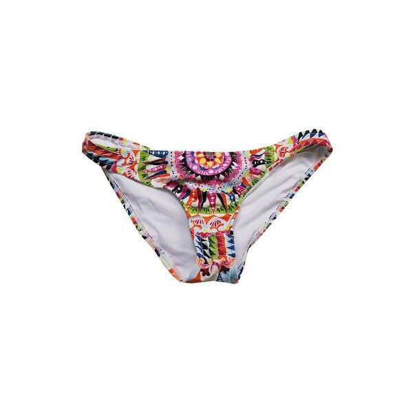 Bar Iii Pink Multi Cartwheels Printed Cheeky Hipster Bikini Bottom XL