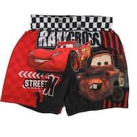 Disney Baby Boys Red Cars Lightning Mcqueen Print Swimwear Shorts