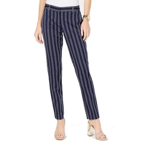 MICHAEL Michael Kors Womens Pants Blue Size 12 Dress Skinny Striped