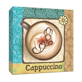 """PTM Images 9-153521  PTM Canvas Collection 12"""" x 12"""" - """"Cappuccino"""" Giclee Coffee, Tea & Espresso Art Print on Canvas"""