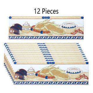 12 Pcs Ceramic Listello Tile Border Chair Rail 3 x 10