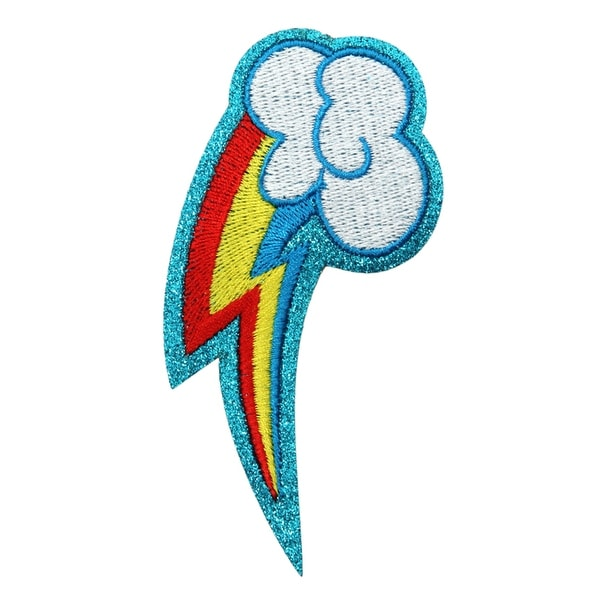 My Little Pony Rainbow Dash Glitter Costume Patch Unisize
