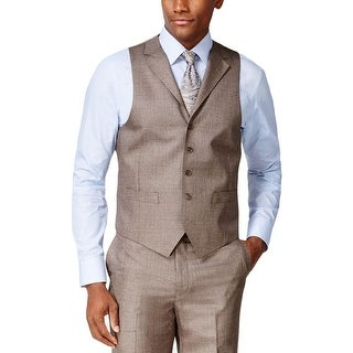 Sean John Mens Suit Vest Classic Fit Stepweave