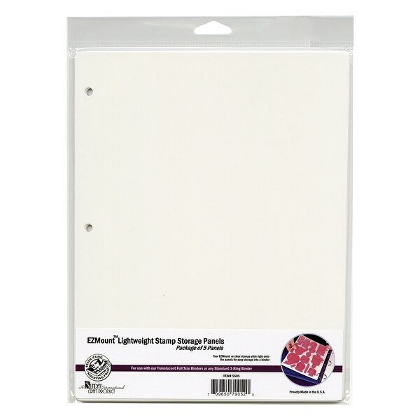 """EZMount Lightweight Stamp Storage Panels 5/Pkg-8.5""""X11"""""""
