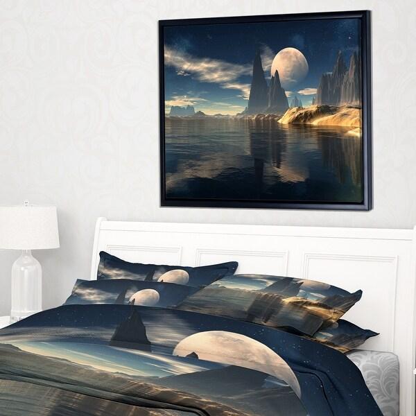 Designart Antara Alien Planet Photography Canvas Print Grey Overstock 11687648