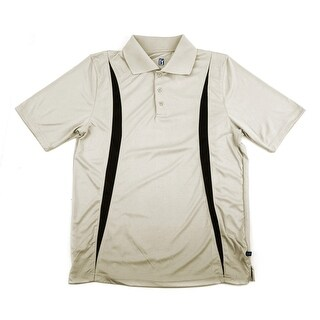 PGA TOUR Men's Polo Shirt - Stone w/ Black Print - X Large