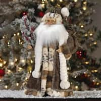 """18"""" Jacqueline Kent's Faces of Christmas Woodland Santa Claus with Holly"""