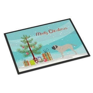 Carolines Treasures BB2974JMAT English Mastiff Merry Christmas Tree Indoor or Outdoor Mat 24 x 36
