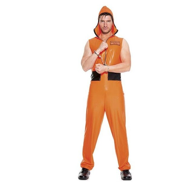 cde80986d02 Shop 2 Piece Escaped Convict Orange Zip Front Jumpsuit with Attached - Free  Shipping On Orders Over  45 - Overstock.com - 22957734
