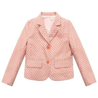 Richie House Baby Girls Pink Red Dot Print Small Coat 24M