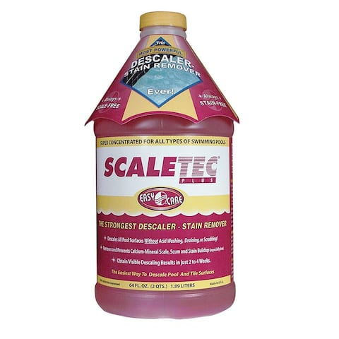 EasyCare 20064 Scaletec Plus Descaler and Stain Remover 64 oz Bottle - Red