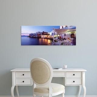 Easy Art Prints Panoramic Images's 'Mykonos, Greece' Premium Canvas Art