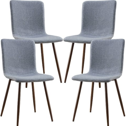 Edgemod Wadsworth Dining Chair with Walnut Legs (Set of 4)
