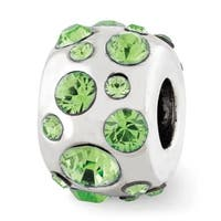 Sterling Silver Reflections August Swarovski Elements Bead (4mm Diameter Hole)