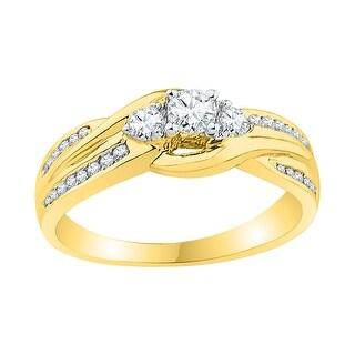 1/2Ctw Diamond Bridal Engagement Ring 10K Yellow-Gold