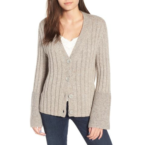 Leith Womens Sweater Medium Cardigan V-Neck Ribbed Knit