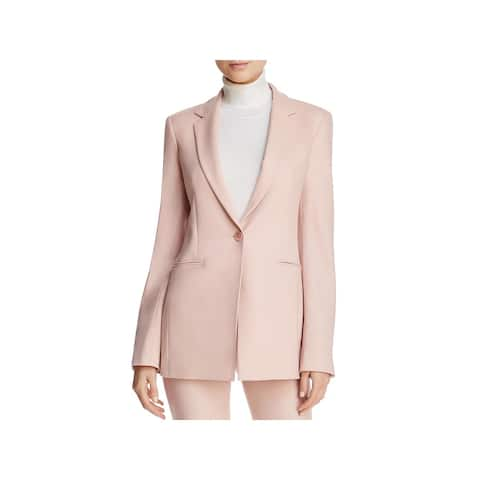 Theory Womens Power One-Button Blazer Wool Office Wear