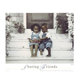 ''Sharing Friends'' by Gail Goodwin African American Art Print (16 x 20 in.)