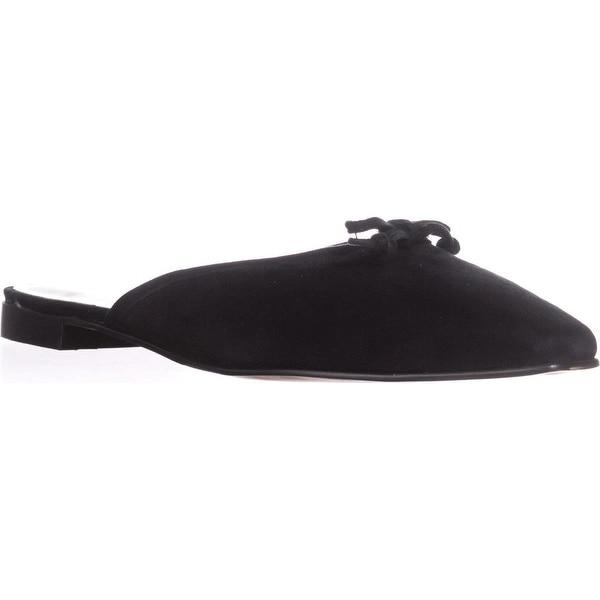 Adrienne Vittadini Footwear Bevis Mule Flats, Black
