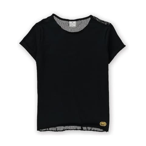 Ecko Unltd. Womens Mesh Back Graphic T-Shirt, Black, Small
