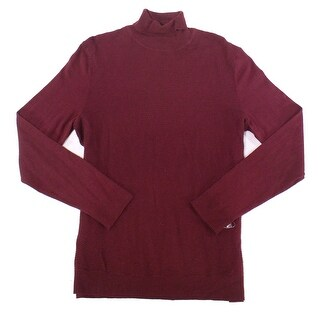 Alfani Port Red Mens Size XL Pullover Turtleneck Ribbed Sweater