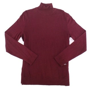Alfani Red Mens Size Large L Pullover Turtleneck Textured Sweater