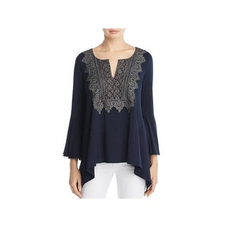 Elie Tahari Womens Blouse Metallic Lace (2 options available)