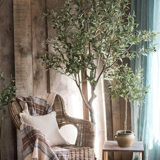 "RusticReach Large Artificial Olive Tree 94"" Tall"