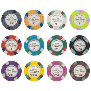 Monaco Club 13.5 Gram Poker Chips Sample Pack - 12 Chips