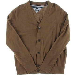 Tommy Hilfiger Mens Cotton Button Front Cardigan Sweater