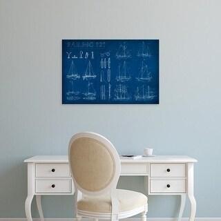 Easy Art Prints Ethan Harper's 'Sailing Infograph' Premium Canvas Art