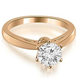 0.50 cttw. 14K Rose Gold Solitaire six Prong Diamond Engagement Ring