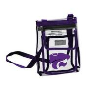 Logo Brands 158-66P Kansas State Gameday Clear Crossbody