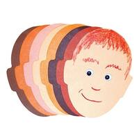 Roylco Funny Face Pad, 5 x 8 Inches, Assorted Colors, 50 Sheets