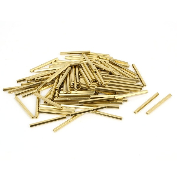 100 Pcs M2 32mm Hexagonal Net Nut Female Brass Standoff Spacer for CCTV Camera