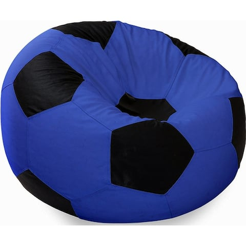 Ample Decor Soccer Design Bean Bag Cover without Beans, Comfortable Leatherette Sitting Bean Bag Cover (Filling Not Included)