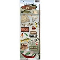 """Gone Fishing - Paper House Cardstock Stickers 4.625""""X13"""""""