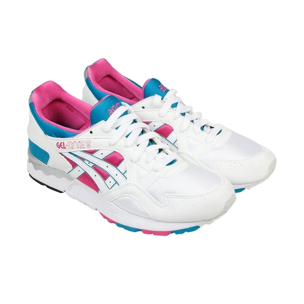 Asics Gel Lyte V Mens White Suede Athletic Lace Up Athletic Shoes