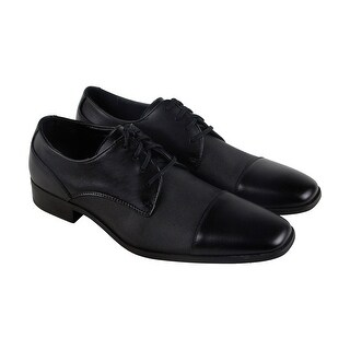 Calvin Klein Gilray Action Black Leather Casual Dress Lace Up Oxfords Shoes