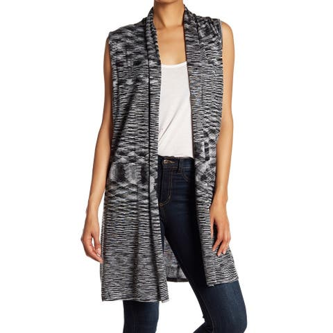 Joseph A Gray Womens Size Small S Open Front Shawl Collar Knit Vest